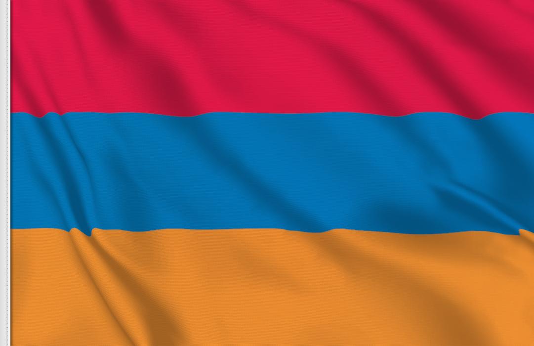 bandera adhesiva de Armenia