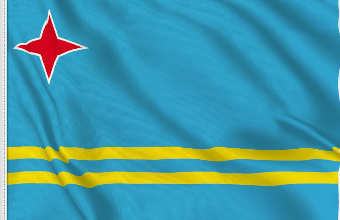 fahne Aruba, flagge von Aruba