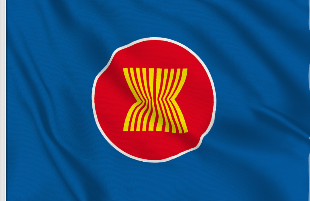 Flagsonline.it logo will NOT be present on the real flag of ASEAN .: www.flagsonline.it/asp/flag.asp/flag_asean/asean.html