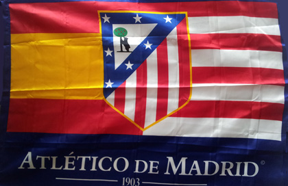 Club Atletico de Madrid flag