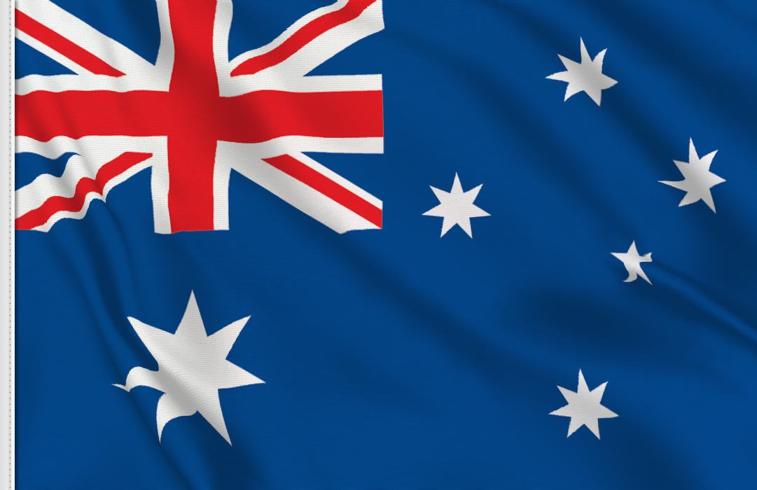flag sticker of Australia