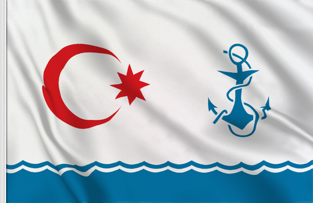 Azerbaiyan marina militar flag