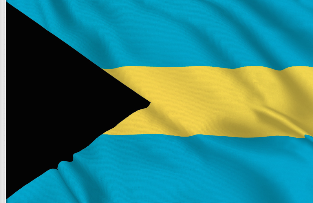 flag sticker of Bahamas