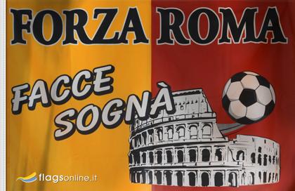 fahne Forza Roma, flagge von Rom