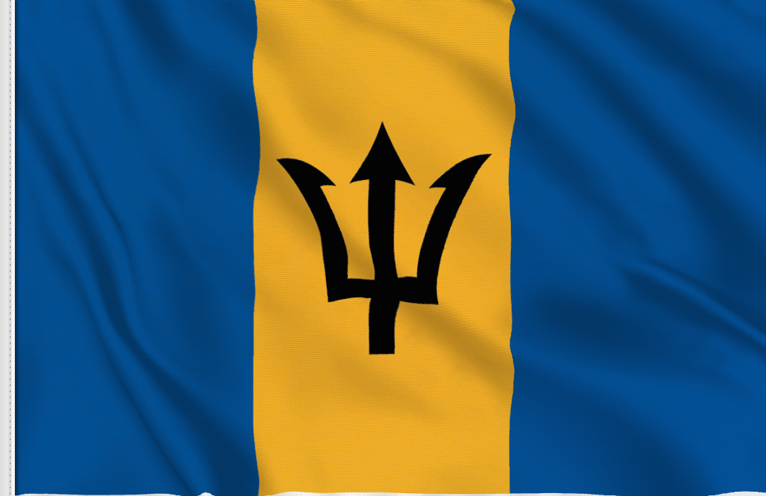 Barbados table flag