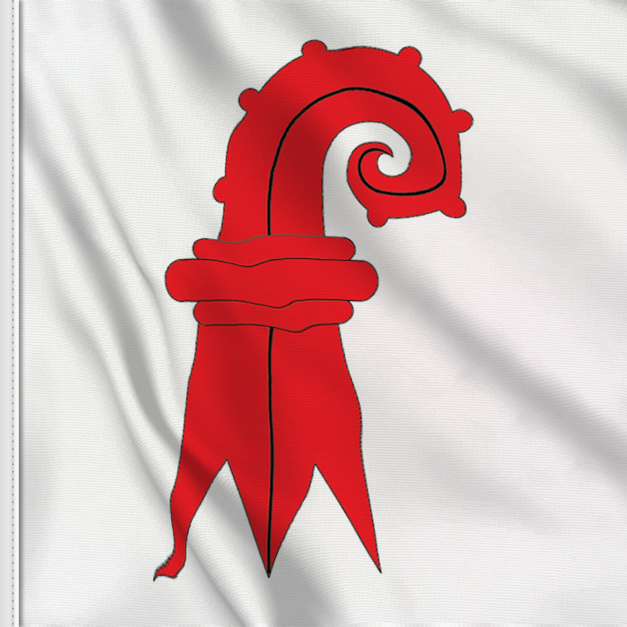 Flag sticker of Basel-Land