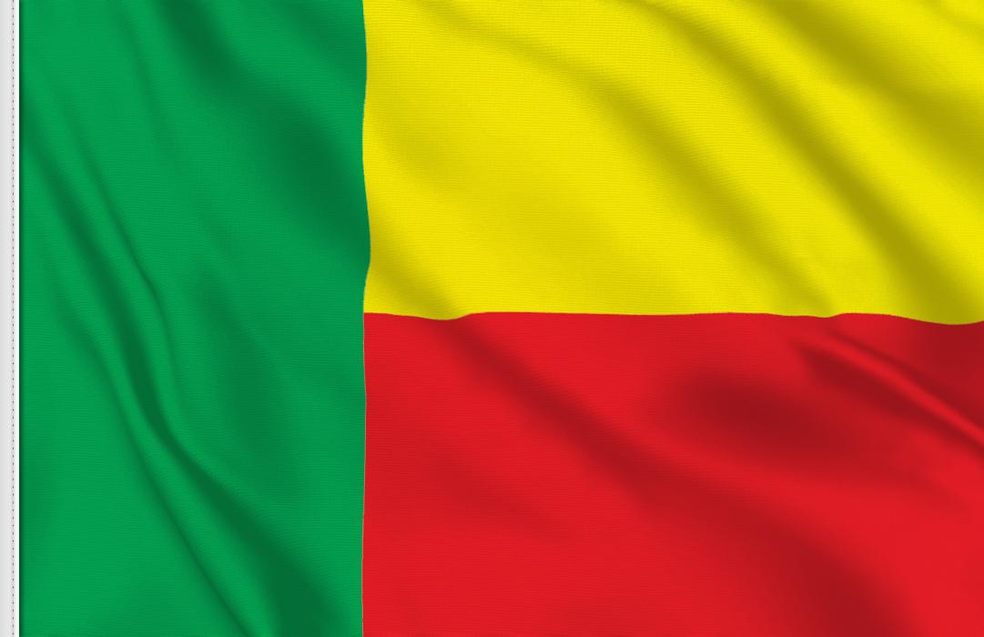 bandera adhesiva de Benin