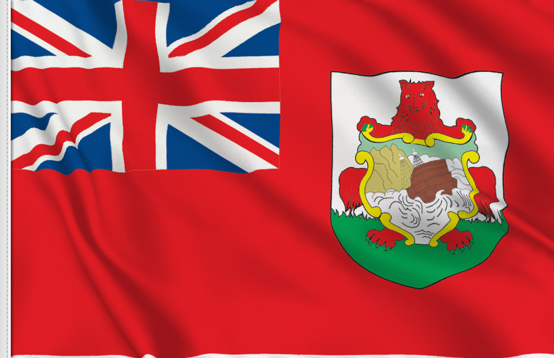 flag sticker of Bermuda