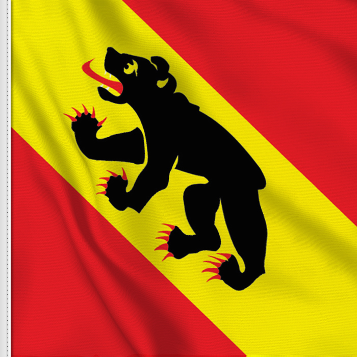 flag sticker of Bern-Berne