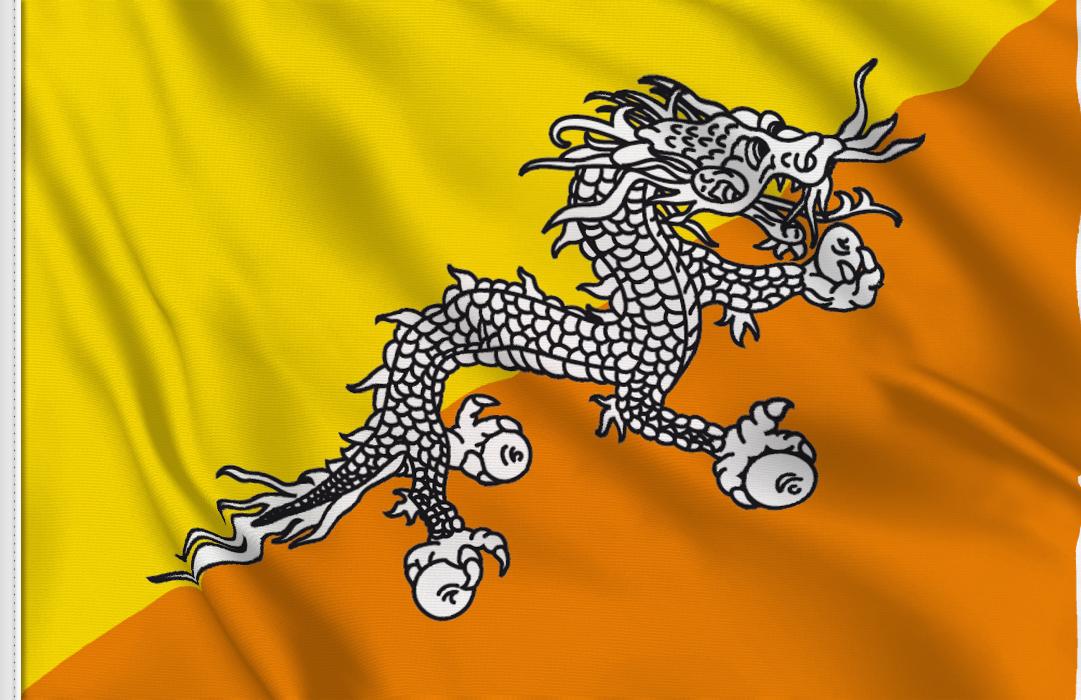 bandera de mesa de Butan