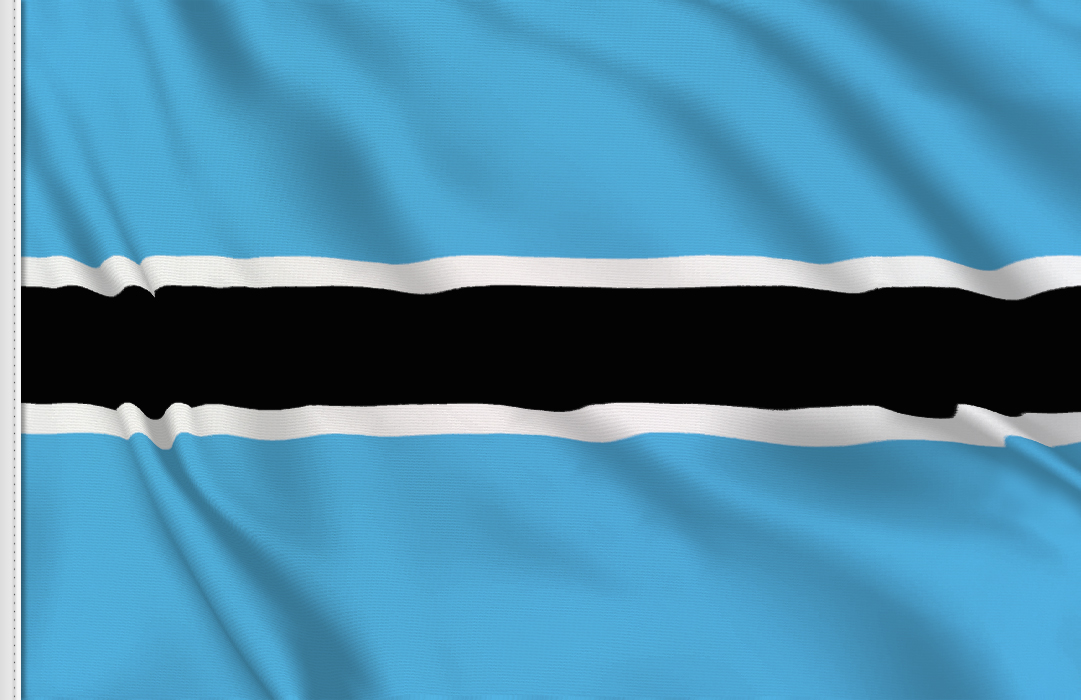 flag sticker of Botswana