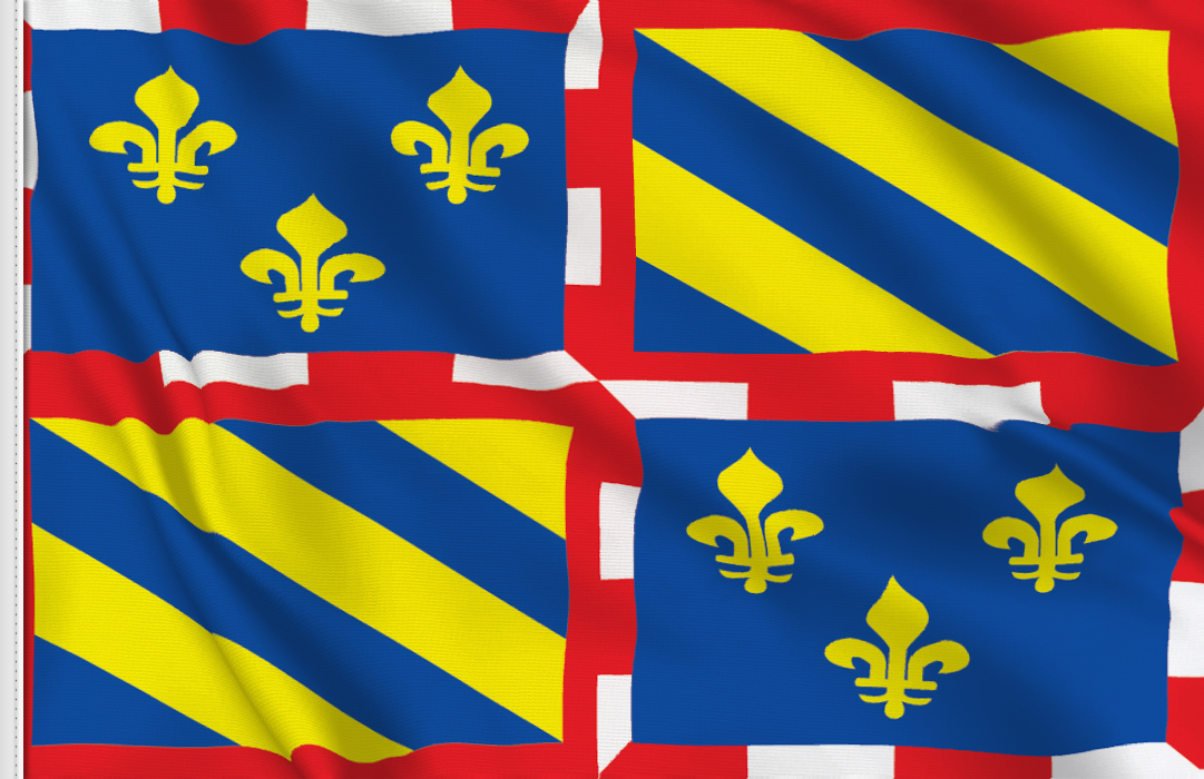 Flag sticker of Bourgogne