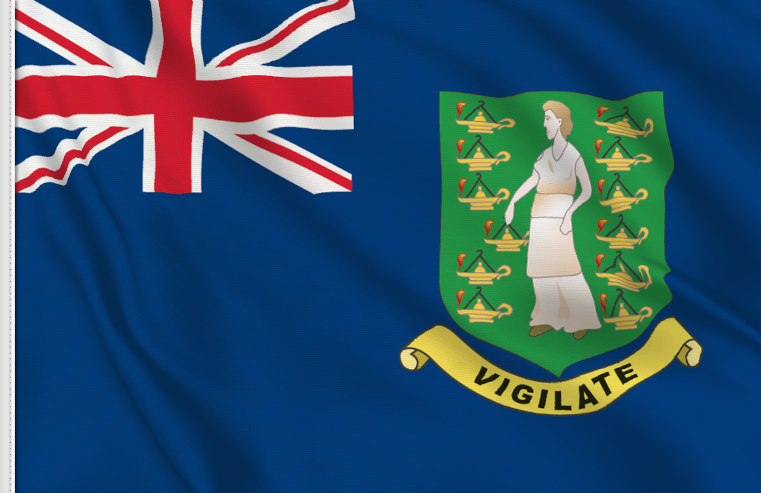 fahne Britische Jungferninseln, flagge der Britischen Jungferninseln