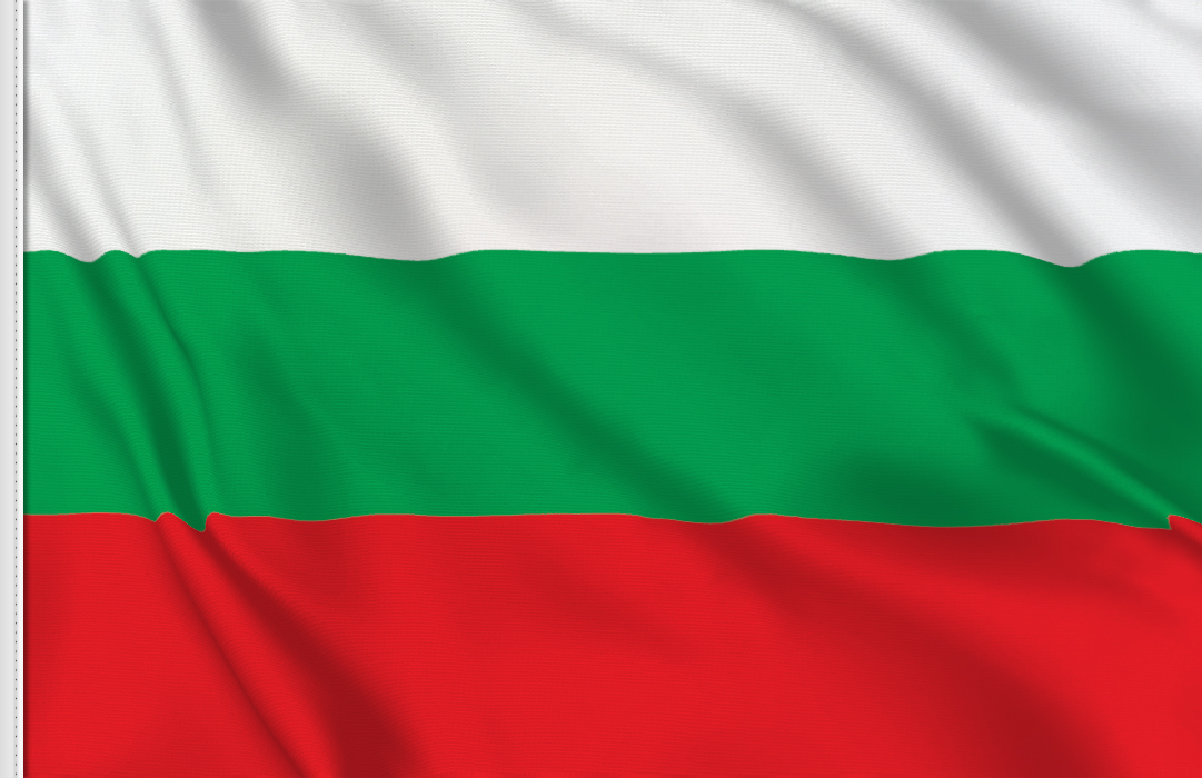 flag sticker of Bulgaria