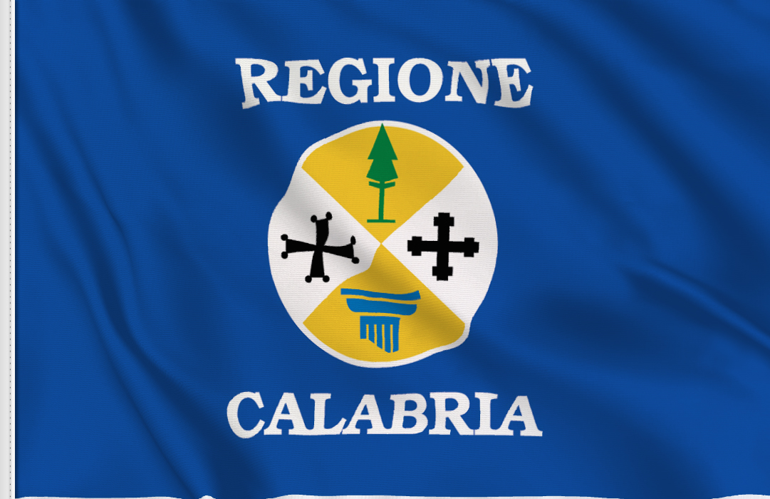 flag sticker of Calabria