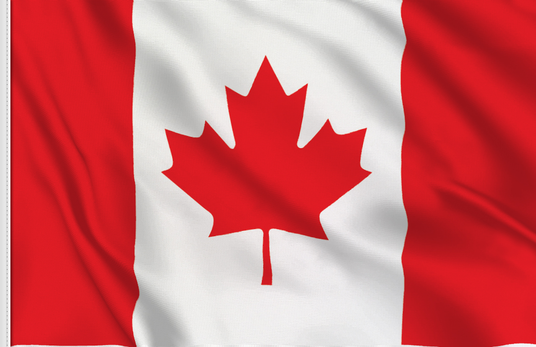 Flag sticker of Canada