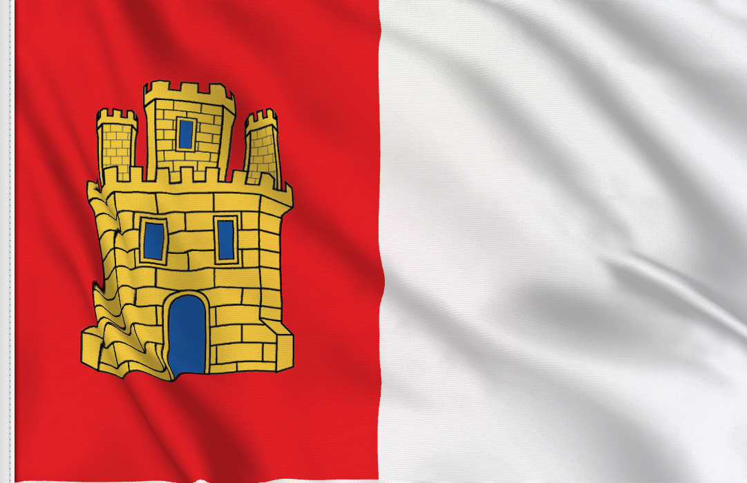 flag sticker of Castilla Mancha
