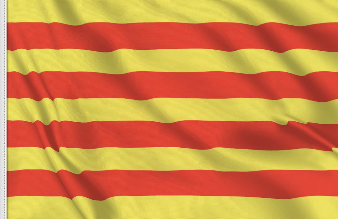 drapeau adhésif du Catalogne