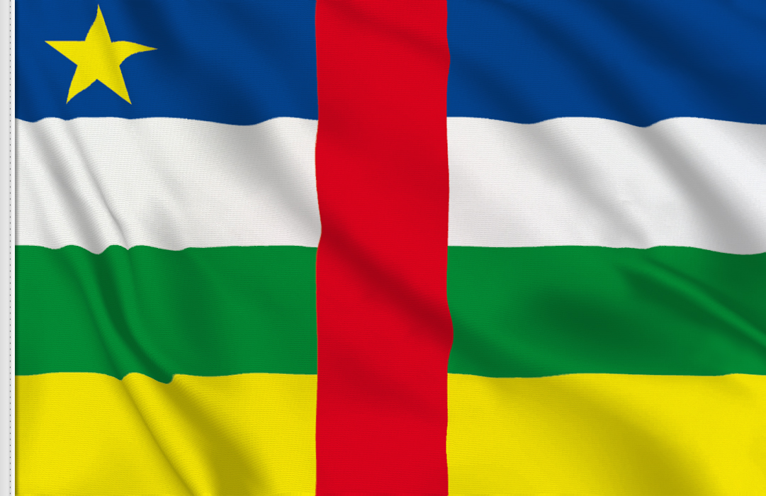 Central African R table flag