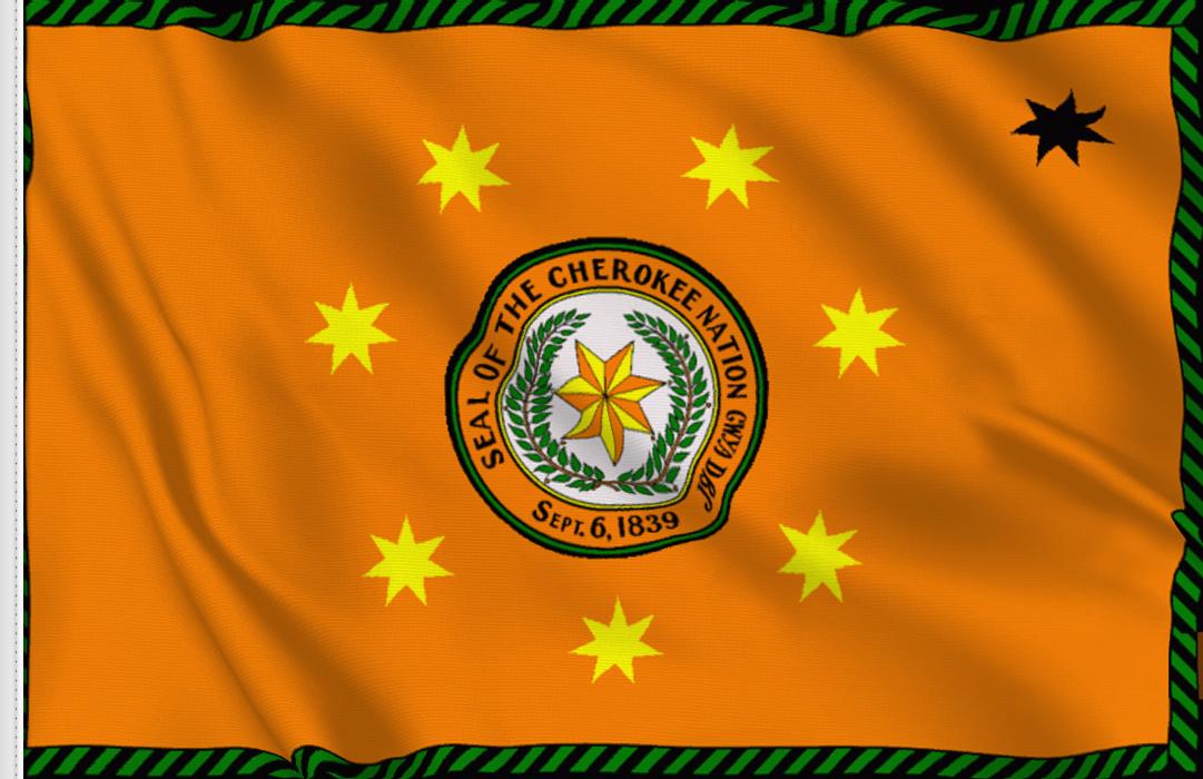 fahne Cherokee, flagge der Cherokee Nation