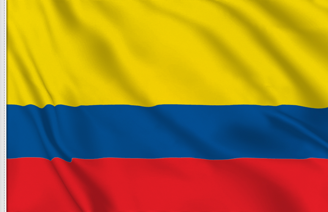 Flag sticker of Colombia