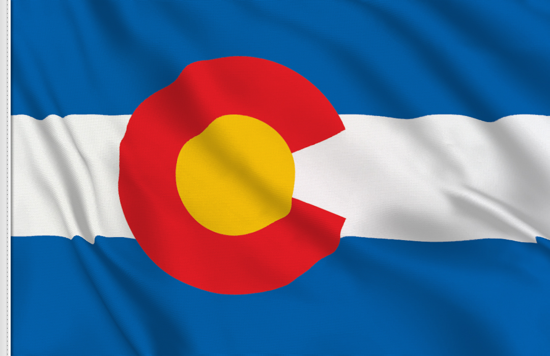 flag sticker of Colorado