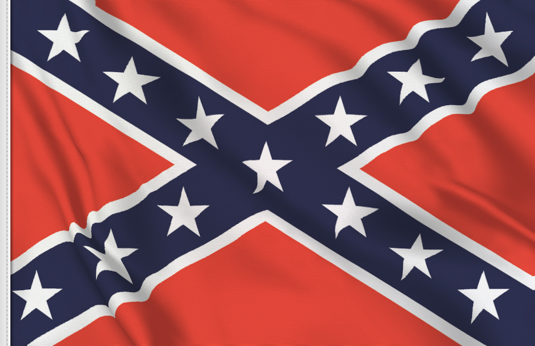 flag sticker of Confederate
