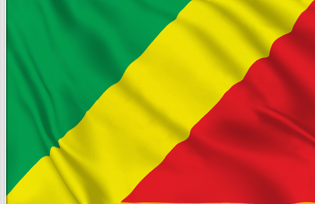 flag sticker of Congo