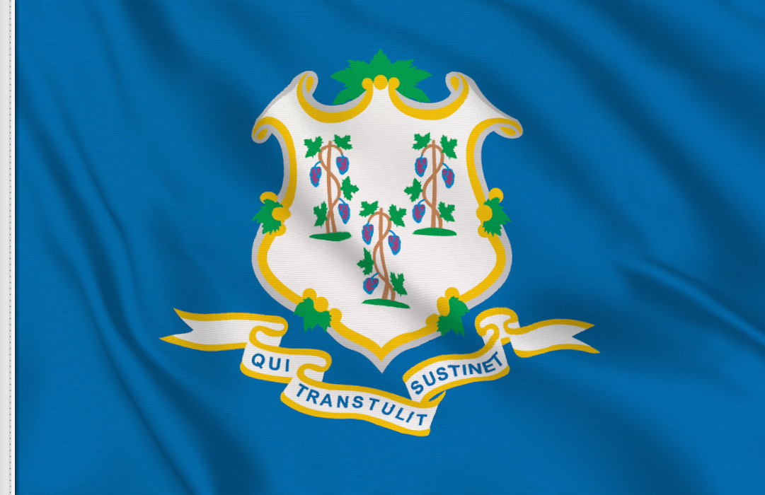 Flag sticker of Connecticut