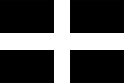 Cornovaglia table flag