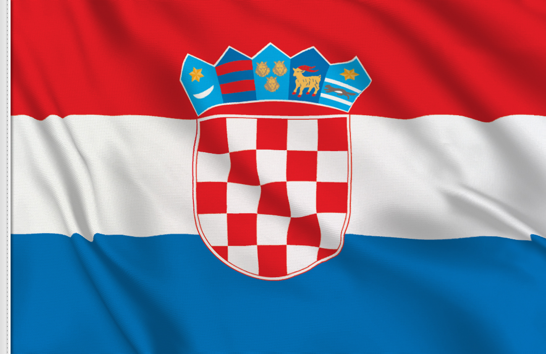 flag sticker of Croatia