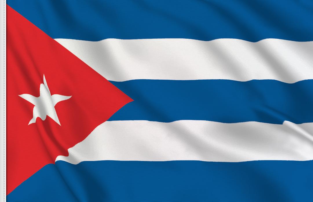 flag sticker of Cuba
