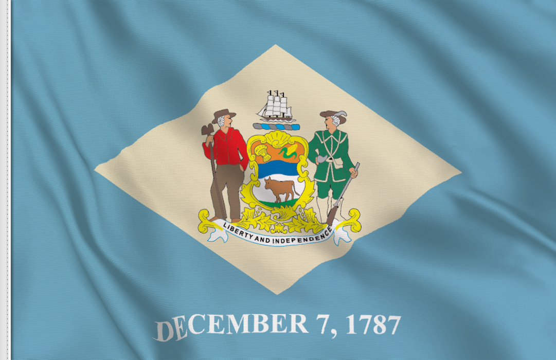 Flag sticker of Delaware