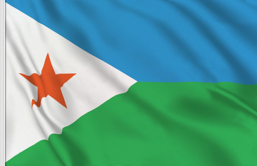bandera adhesiva de Yibuti