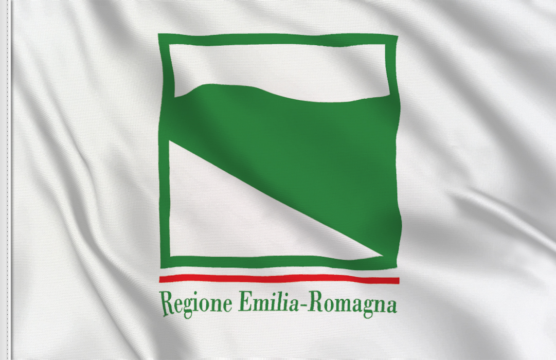 Emilia-Romagna aufkleber fahne