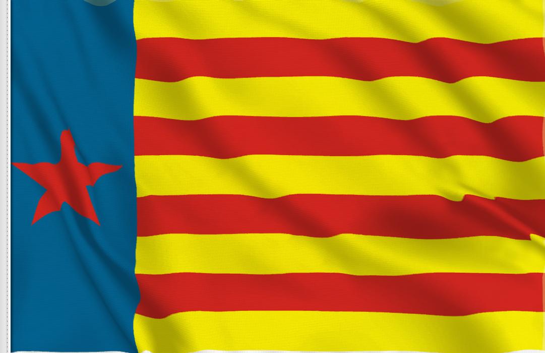 Flag sticker of Estelada valenciana roja