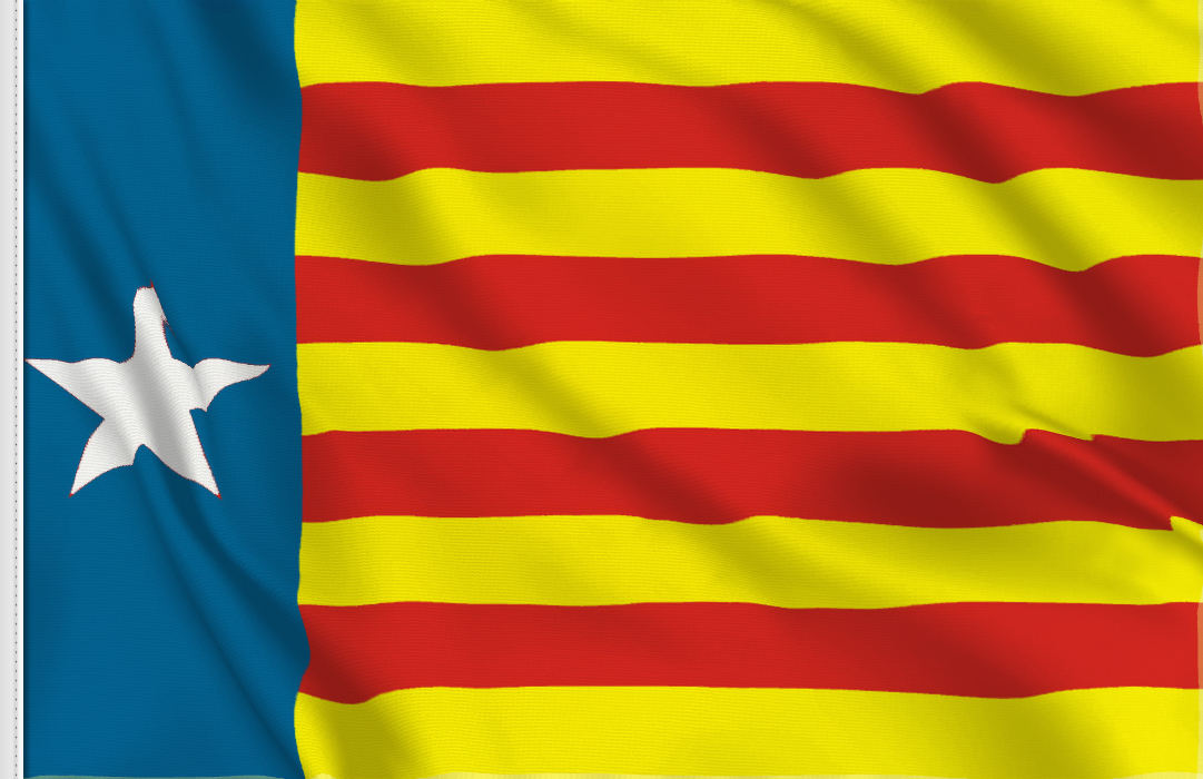 Flag sticker of Estelada valenciana