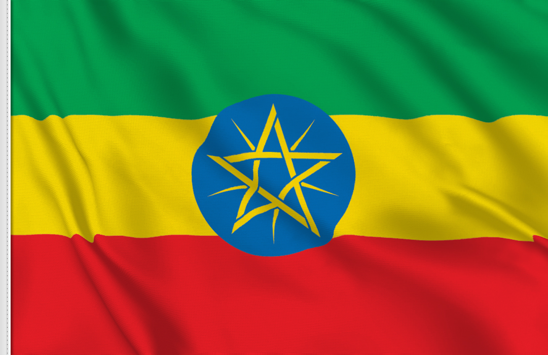 flag sticker of Ethiopia