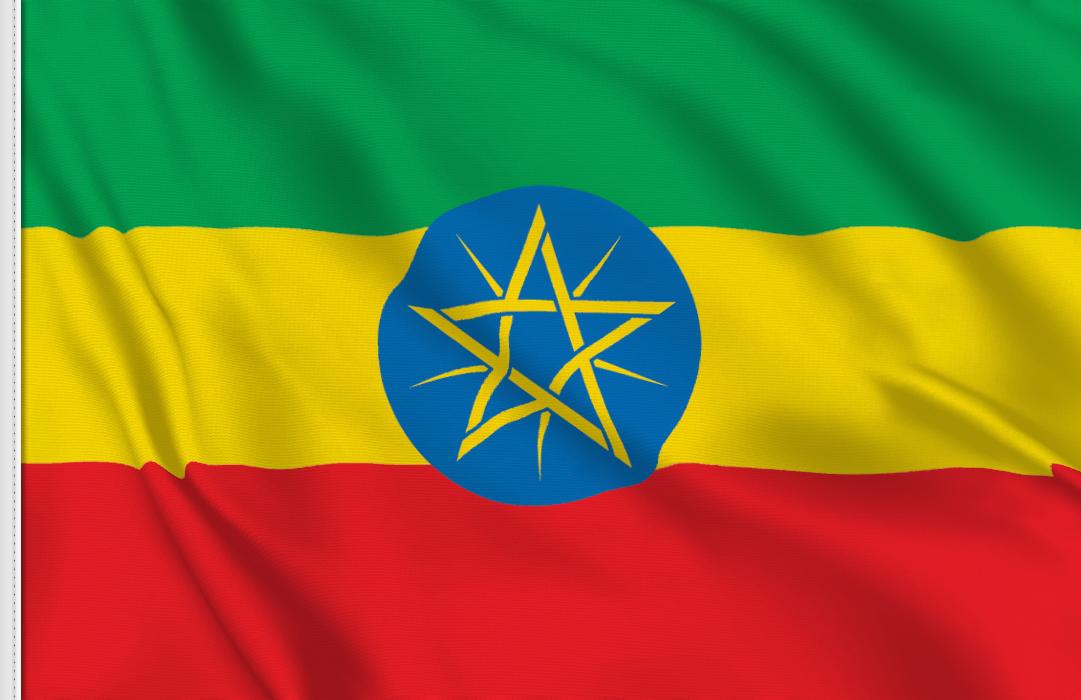 fahne Aethiopien, flagge von Äthiopien