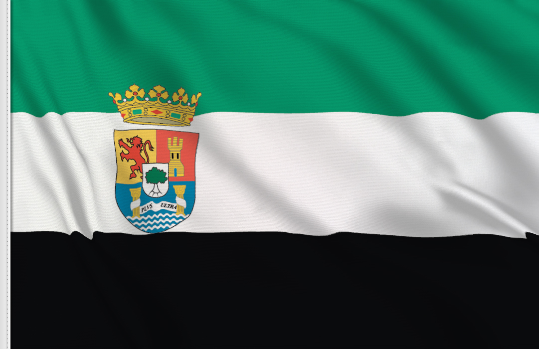 flag sticker of Extremadura