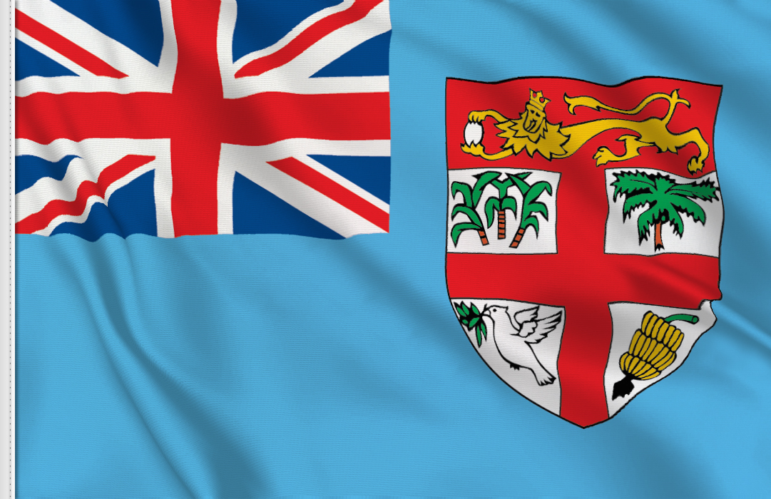 flag sticker of Fiji
