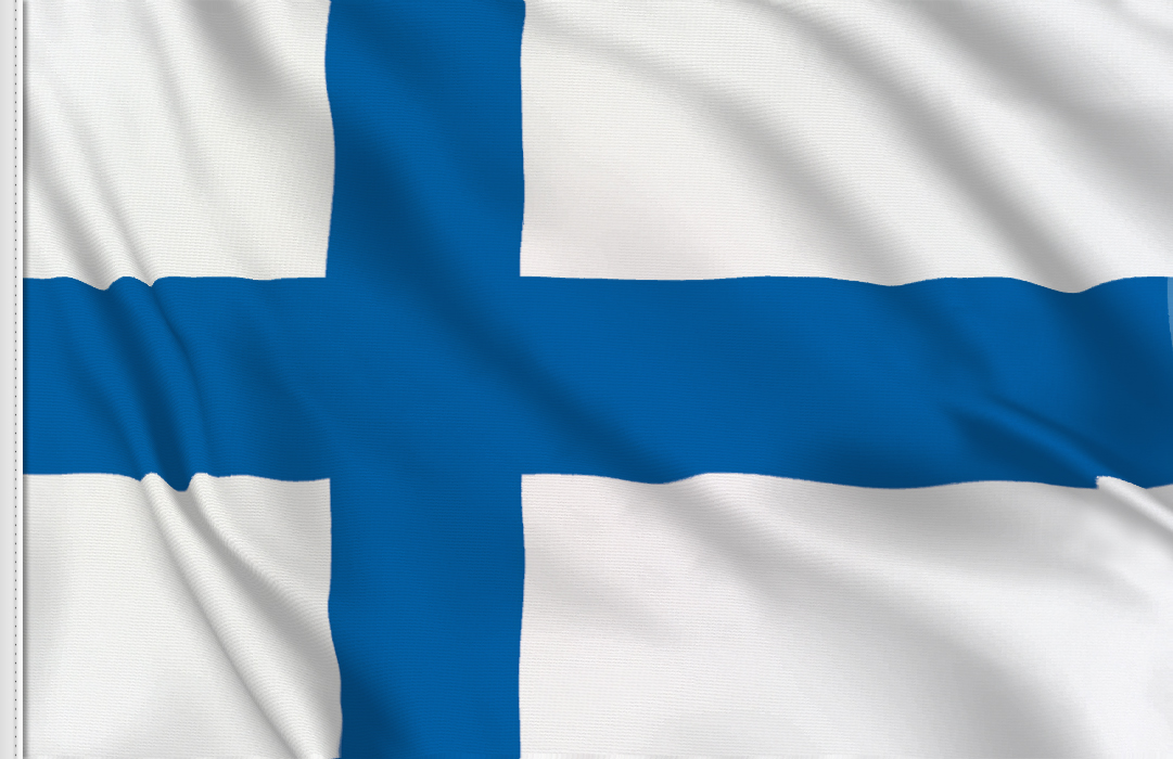 flag sticker of Finland
