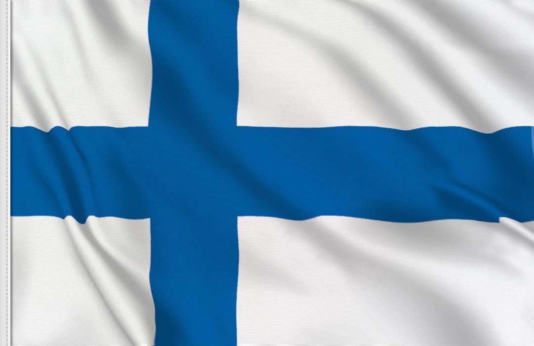 Flag sticker of Finland