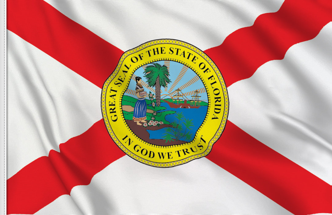 Flag sticker of Florida