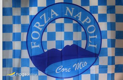 fahne Napoli-klassische, flagge von SSC Neapel