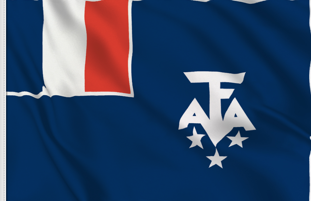 French Antarctic flag
