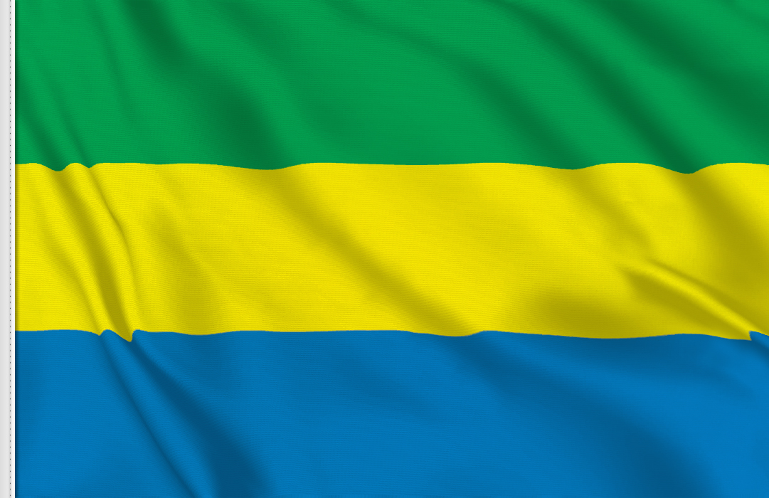 flag sticker of Gabon