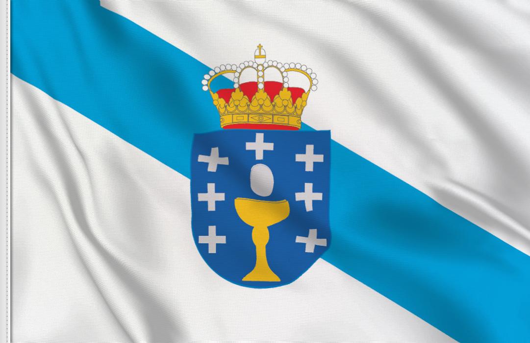 drapeau adhésif du Galice