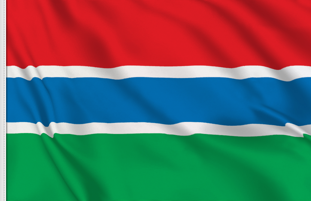 flag sticker of Gambia