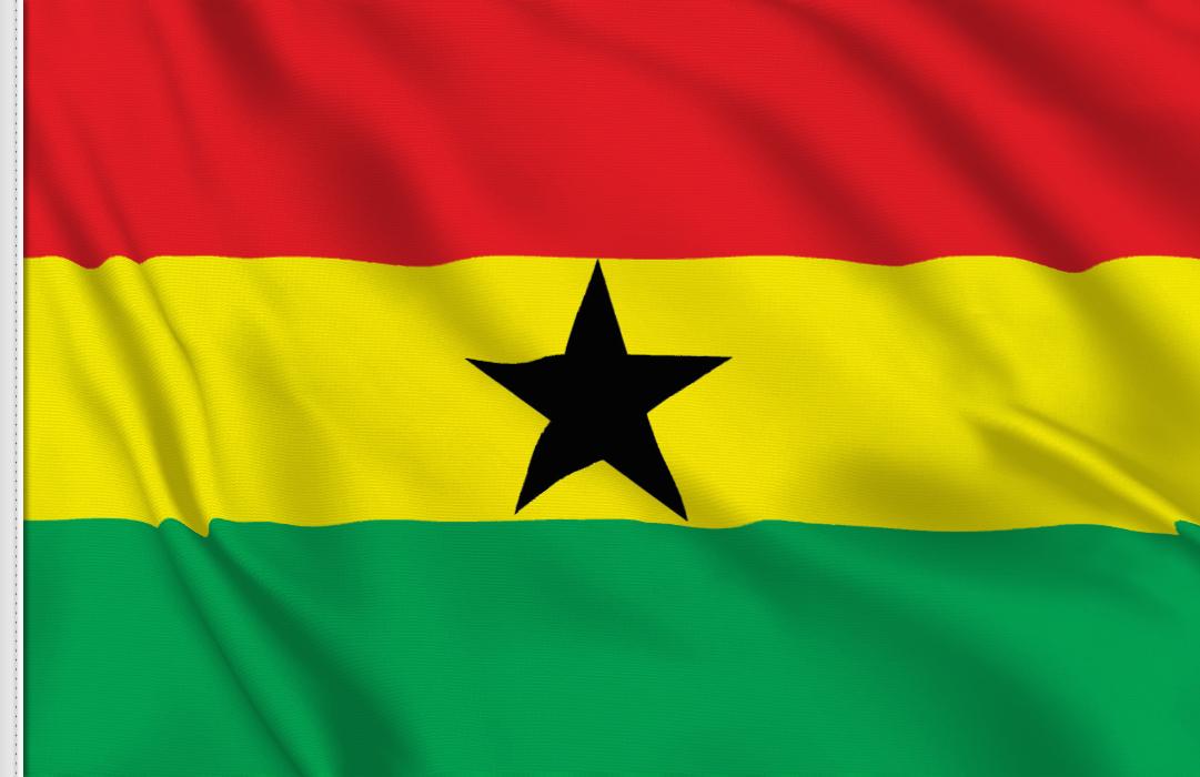 bandera adhesiva de Ghana